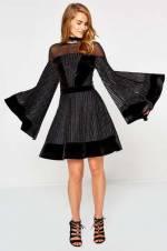 Kadın Siyah Mini Elbise 8KAK84884ZK