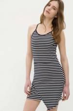 Kadın Beyaz Çizgili Elbise 6YAK88754PK