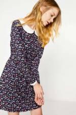 Kadın Ekru Desenli Elbise 7KAL86950IW