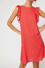 Kadın Kırmızı Elbise 8YAK88736PW