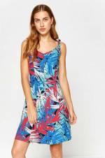 Kadın Lacivert Desenli Elbise 8KAF80237FW