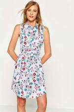 Kadın Mavi Elbise 7YAL81007QW