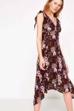 Kadın Mor Desenli Elbise 8KAK83502QW