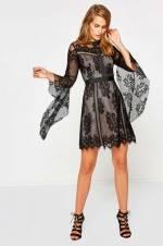 Kadın Siyah Mini Elbise 8KAK84040ZK