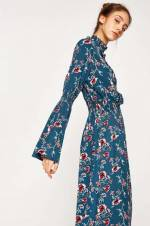 Kadın Yeşil Desenli Elbise 8KAL89879IW