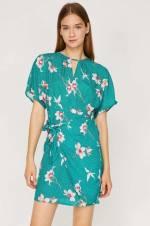 Kadın Yeşil Mini Elbise 8YAF80378OW