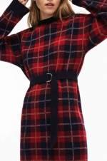 Kadın Lacivert-Kırmızı Elbise EF0281
