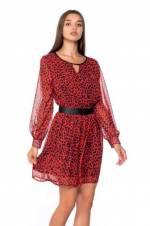 Kadın Kırmızı Elbise 1587