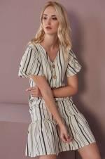 Kadın Ekru-Haki Elbise O&O-8Y408029