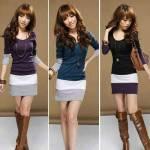 Yeni Sezon Sonbahar Kış Kadın Uzun Kollu Pamuk Elbise 3 Renk Seçeneği L Beden