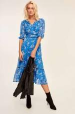 Mavi Desenli Elbise TOFAW19BB0195