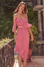 Pembe Fırfır Detaylı Elbise TOFSS18LE0215