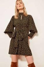 Siyah Bağlamalı Elbise TCLAW19AP0188