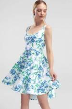Çok Renkli desenli Elbise TPRSS18BB0154