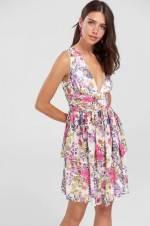 Çok Renkli Çiçek Desenli Elbise TPRSS18UT0063