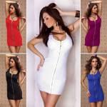 Fantazi Erotik İç Giyim Terry Pau Tp101136 Önü Fermuarlı Mini Elbise Bayrama Özel