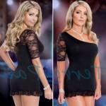 Fantazi Erotik İç Giyim Terry Pau Tp101168 Asimetrik Dantel Elbise Bayrama Özel