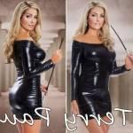 Fantazi Erotik İç Giyim Terry Pau Tp101167 Uzun Kollu Parlak Elbise Bayrama Özel