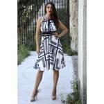 Dantel Desen Askılı Elbise